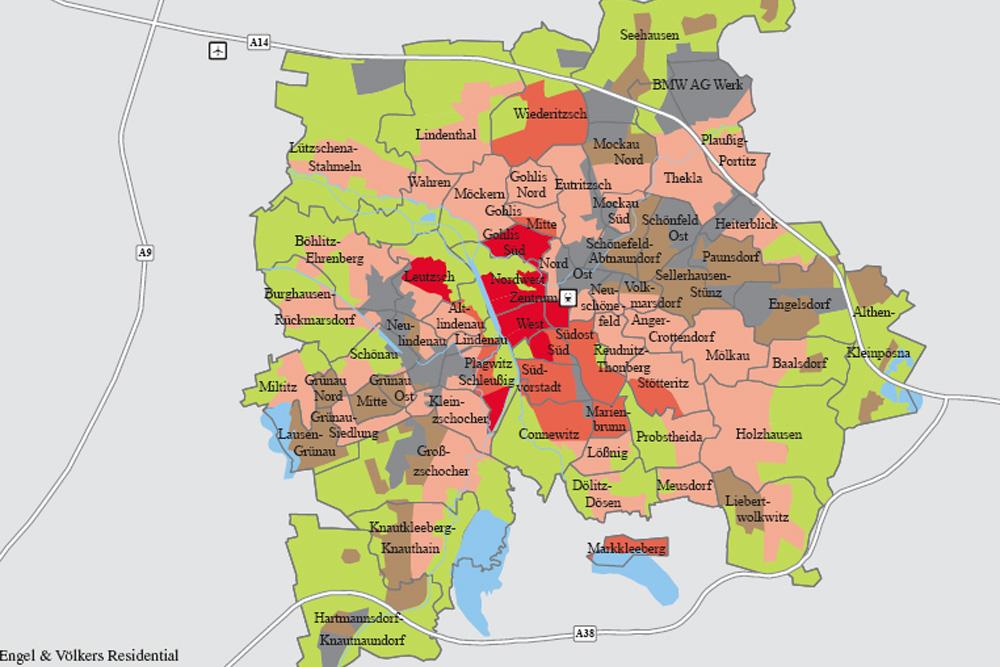 Lagen im Leipziger Immobilienmarkt: