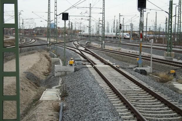 Vorfeld des Hauptbahnhofs Leipzig - auch ohne Zug ganz eindrucksvoll. Foto: Ralf Julke