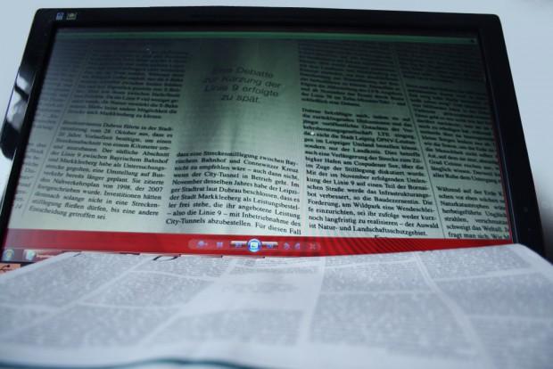 Zwei Drittel der sächsischen Internetnutzer lesen online auch weiter Zeitung. Foto: Ralf Julke