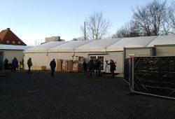 In diesen Zelten werden ab Ende des Monats 350 Geflüchtete leben. Foto: René Loch