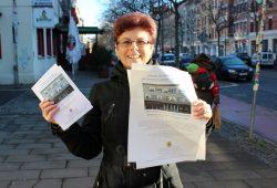 Frau Andruschow von der Georg Maurer Bibliothek Plagwitz. Foto: Volly Tanner
