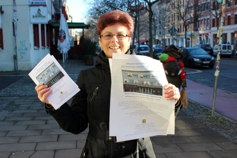 Tanners Interview mit der Mitarbeiterin in der Georg Maurer Bibliothek Plagwitz, Frau Andruschow
