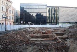 Grabungsfläche an der Katharinenstraße im Dezember. Foto: Ralf Julke