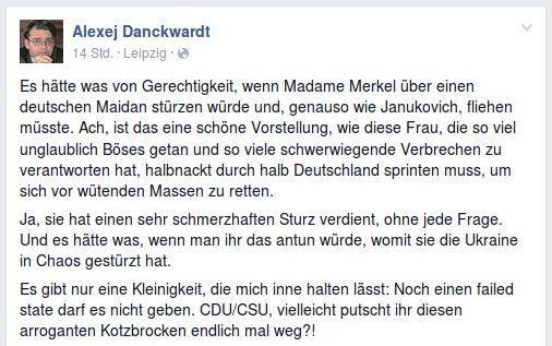 Diesen Beitrag veröffentlichte der Linken-Stadtrat am Montagabend. Screenshot: Facebook