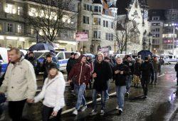 Am 11. Januar füllte sich der Parkplatz vor dem Naturkundemuseum mit Legida-Anhängern. Foto: L-IZ.de