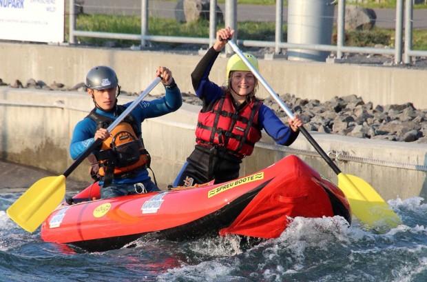 Neu 2016: DUO-Rafting. Foto: Kanupark Markkleeberg