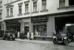 """Fedor Gross"" im Jahre 1929 - Straßenansicht des 1903 gegründeten Ladengeschäftes. Foto: Privat Familie Frank / Fedor Gross e.V."