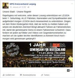 Die NPD Leipzig ruft zum Kampf. Screenshot Twitter