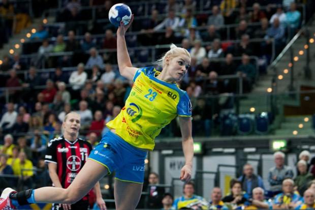Nervenstark und treffsicher: Shenia Minevskaja machte 11 Tore für den HCL, sechs davon vom Siebenmeterpunkt. Foto: Sebastian Brauner