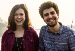 Carina Lange und Alexander Kauschanski. Foto: UN-Jugenddelegierte
