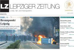 Die aktuelle Ausgabe der LEIPZIGER ZEITUNG. Neben anderen Themen mit dem Thema 12. Dezember 2015 und die Folgen. Foto: Titel LZ Januar 2016