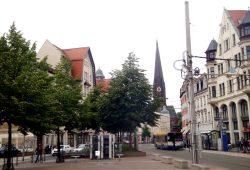 Insel-Situation am Lindenauer Markt. Foto: Gernot Borriss