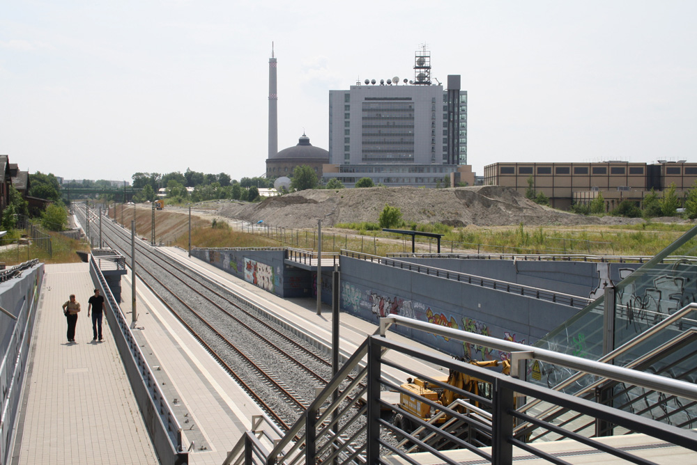 Blick über die S-Bahn-Station