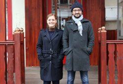 Die Organisatoren von Music with Friends, Franziska und Jörg. Foto: Volly Tanner