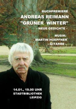 Einladungs-Postkarte zur Reimann-Lesung. Motiv: Andreas-Reimann-Gesellschaft