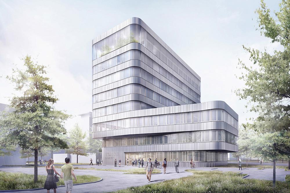 Der Entwurf des neuen Forschungsgebäudes im UFZ. Visualisierung: hks Hestermann Rommel Architekten + Gesamtplaner GmbH & Co. KG aus Erfurt