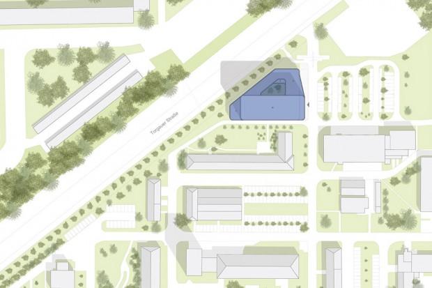 Die Lage des neuen Gebäudes im UFZ-Campus. Karte: UFZ