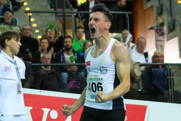 Nach Bronze über 60m lief Robert Hering (SC DHfK) über 200m sogar zu Silber und setzte im Vorlauf eine neue persönliche Bestzeit. Foto: Jan Kaefer