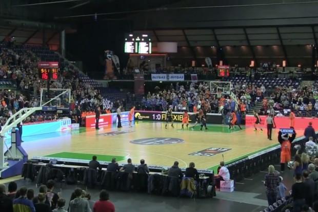 Das Heimspiel-Fanmagazin (HFM-TV) war beim Basketball-Event-Game vor Ort. Quelle: Screenshot HFM-TV