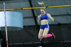 Glücks-Fall: Maria Mahlo (MoGoNo) hat 3,80 Meter lang Zeit, um ihren Erfolg zu genießen. Foto: Jan Kaefer