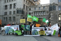 Anti-Kohle-Protest zum Global Divestment Day. Foto: BUND Leipzig