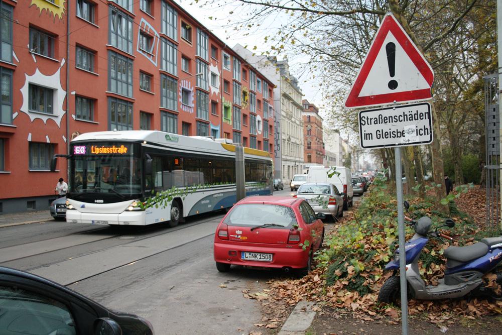 Normalbelegung in der Arthur-Hoffmann-Straße. Foto: Ralf Julke
