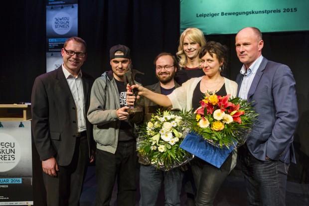 Leipziger Bewegungskunstpreis 2015. Foto: Rolf Arnold