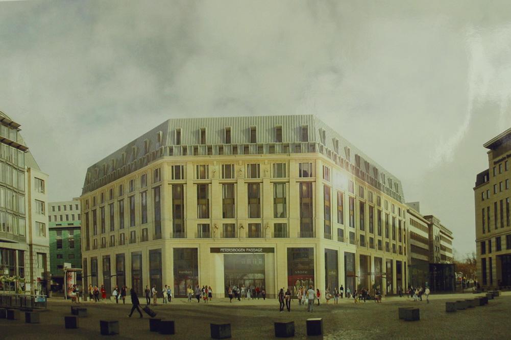 Siegerentwurf für das neue Haus am Burgplatz. Entwurf: Christoph Kohl │KK Architekten GmbH