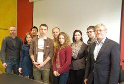 Die russischen Stipendiaten der Partnerhochschulen mit ihren Betreuern an der Fakultät Bauwesen der HTWK Leipzig. Foto: HTWK Leipzig