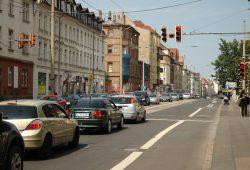 Georg-Schumann-Straße im geplanten Bauabschnitt. Foto: Ralf Julke