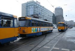 Die stark befahrene Kreuzung Augustusplatz. Foto: Ralf Julke
