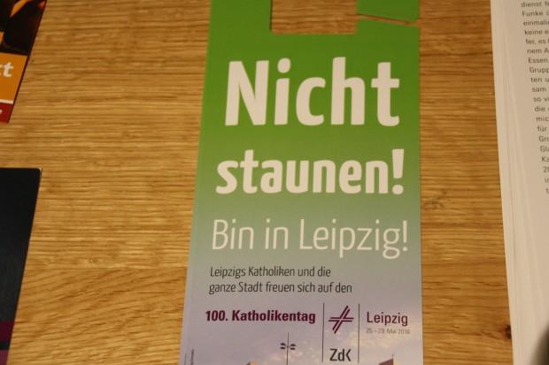 Bundesweite Werbung für den Katholikentag. Foto: Ernst-Ulrich Kneitschel