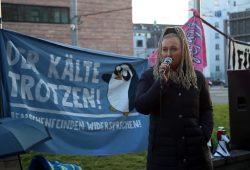 Irena Rudolph-Kokot auf der Demonstration am 24.02.201. Foto: L-IZ.de