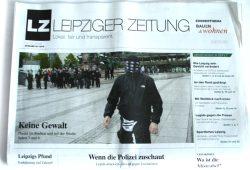 Leipziger Zeitung Nr. 28: Keine Gewalt. Foto: L-IZ.de