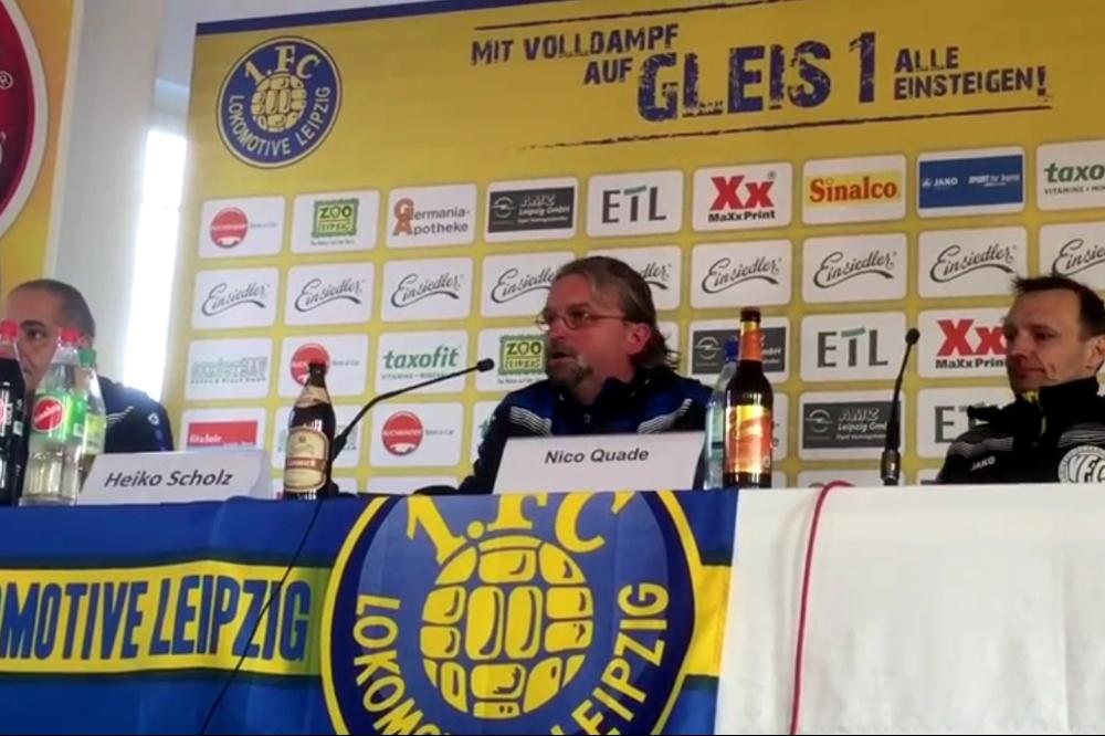 Heiko Scholz sah einen verdienten Sieger bei der anschließenden PRessekonferenz am 27. Februar 2016. Screenshot Video HFM TV