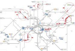 Die wichtigsten Baustellen im LVB-Netz 2016. Karte: LVB