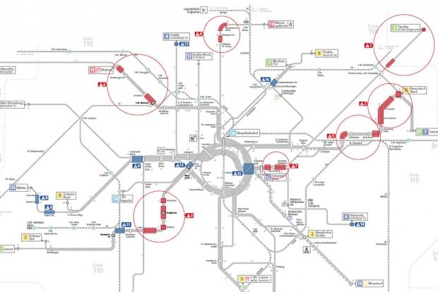 Baustellen Leipzig Karte