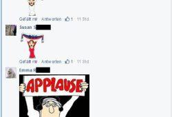Unverholene FReude bei Pegida-Anhängern in geschlossenen Facebookgruppen. Quelle Facebook Pegida Fans