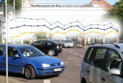 Pkw-Nutzung für den Weg zur Arbeit nach Geschlecht (1993 - 2014). Grafik: Stadt Leipzig, Amt für Statistik und Wahlen