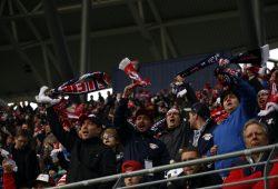 Den Leipziger Fans gefiel die Leistung ihrer Mannschaft. Foto: Alexander Böhm