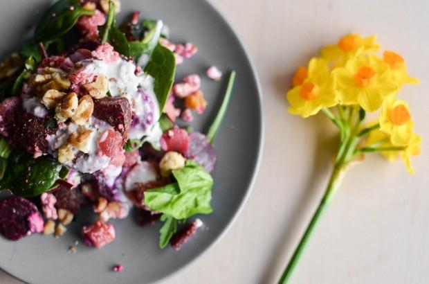 leipziger internet zeitung topf quirl rote bete salat mit m hren feta und waln ssen l. Black Bedroom Furniture Sets. Home Design Ideas