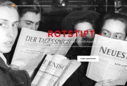 """Einstiegsseite in die virtuelle Ausstellung """"Rotstift"""". Foto: Ralf Julke"""
