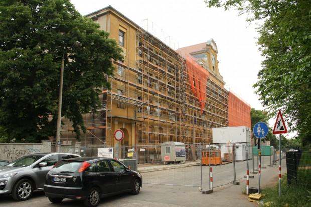 Schulsanierung in der Karl-Vogel-Straße. Foto: Ralf Julke