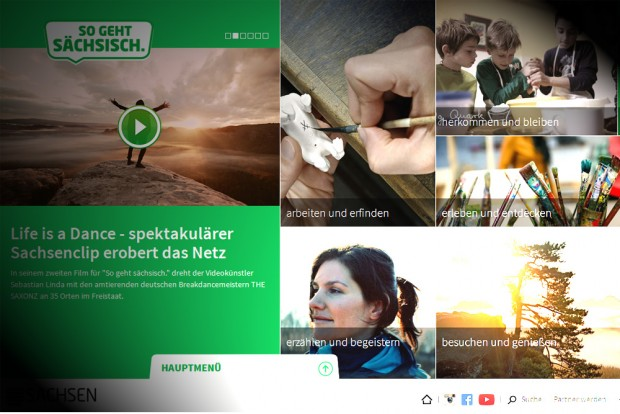 """Die Website zur Image-Kampagne """"So geht Sächsisch"""". Screenshot: L-IZ"""