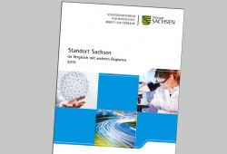 Der neue Standortbericht. Cover: Freistaat Sachsen / SMWA