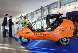 """Ein auf der """"new mobility"""" ausgestelltes Twike. Foto: Leipziger Messe GmbH / Uwe Frauendorf"""