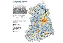Wanderungssaldo in Ostdeutschland 2008 bis 2013. Grafik: Berlin-Institut