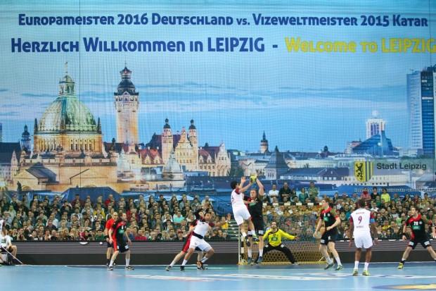 Leipzig freute sich sichtbar über den Handball-Leckerbissen. Foto: Jan Kaefer