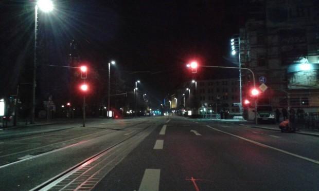 Die Straße frei ... die Strecke für Legida ist beräumt. Foto: L-IZ.de