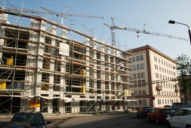 Baustelle in der Leipziger Emilienstraße. Foto: Ralf Julke
